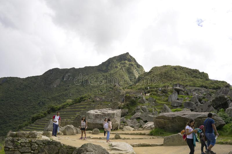 Machu Picchu, the Mecca of every traveler stock photos