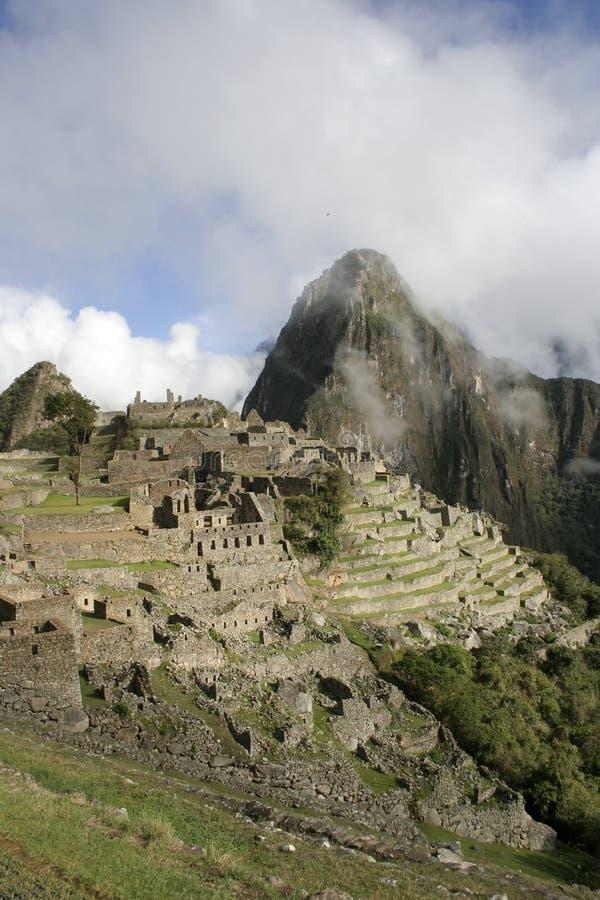 Machu Picchu in the mist, Peru, South America royalty free stock photos