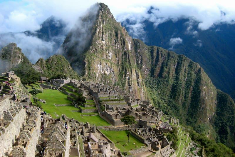 Machu Picchu morgens stockfotografie