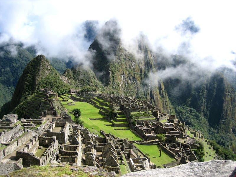 Machu Picchu от юга стоковое изображение rf