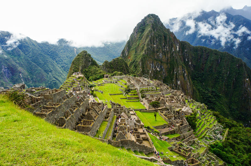 Machu Picchu, One of the New Seven Wonders of the World in Peru royalty free stock photo