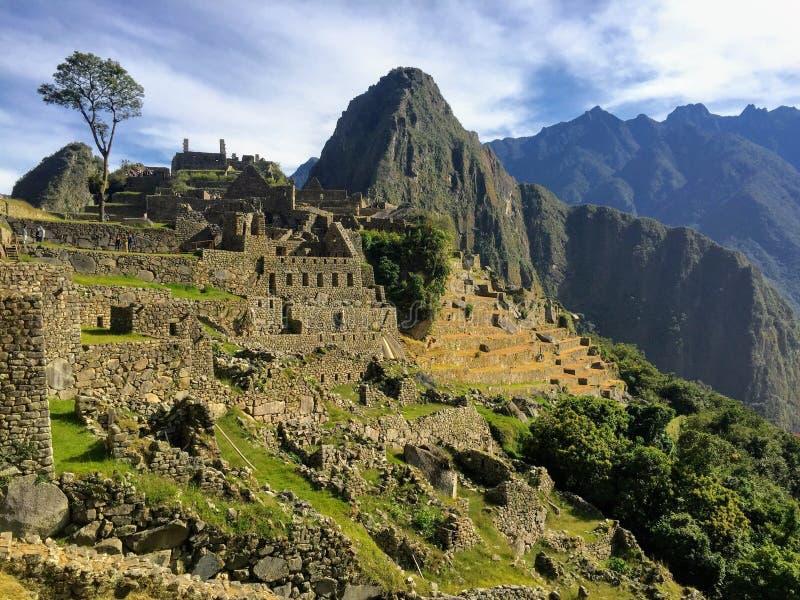 Machu Picchu op een mooie dag in Mei royalty-vrije stock foto's