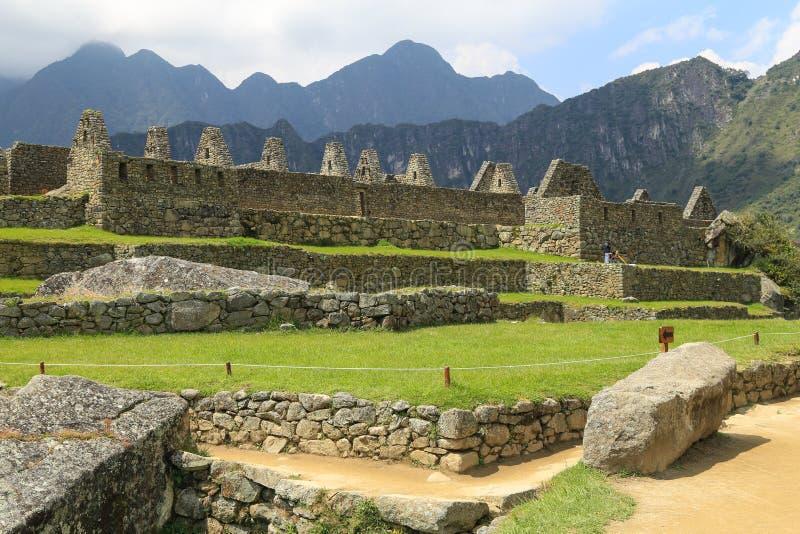 Machu Picchu, Oude Ruïnes van Inca royalty-vrije stock fotografie