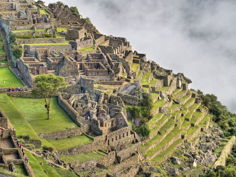 Machu Picchu (Perú) foto de archivo