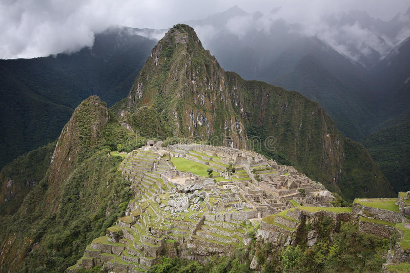 Download Machu Picchu in Peru stock image. Image of andes, cloudy - 10223991