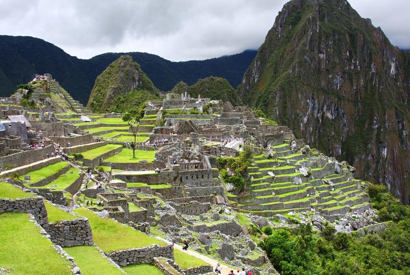 Machu Picchu in Peru stock fotografie