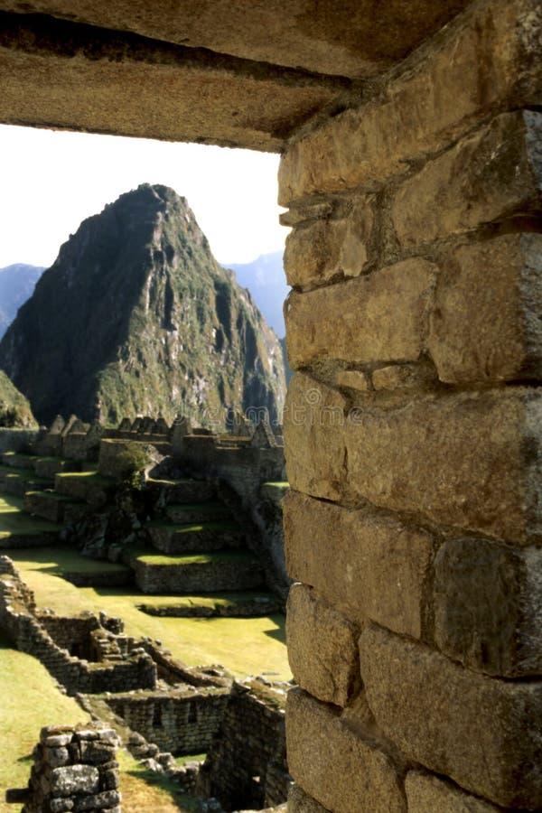 Machu Picchu- Peru royalty-vrije stock afbeelding