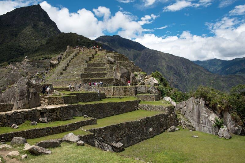Machu Picchu Peru, bostads- avsnitt arkivfoto