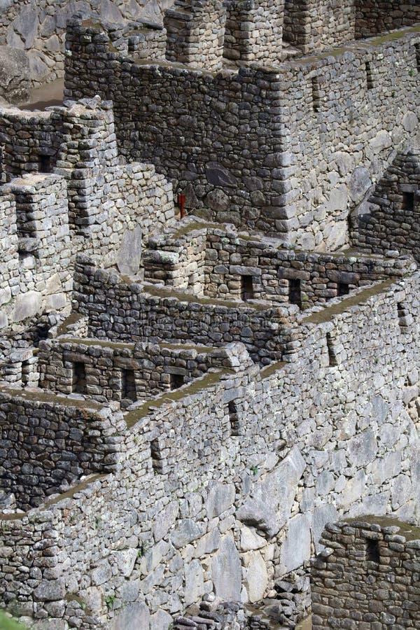 Machu Picchu Peru Details arkivbild