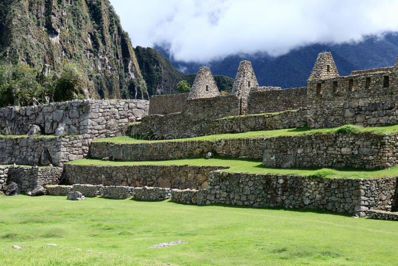 Machu Picchu Peru Details stockfotos