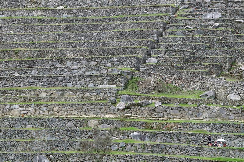 Machu Picchu Peru Details. UNESCO World Heritage Site in Latin America and the Caribbean. Machu Picchu is a 15th-century Inca citadel situated on a mountain royalty free stock photo