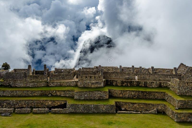 Machu Picchu, Peru, Inca fotografering för bildbyråer