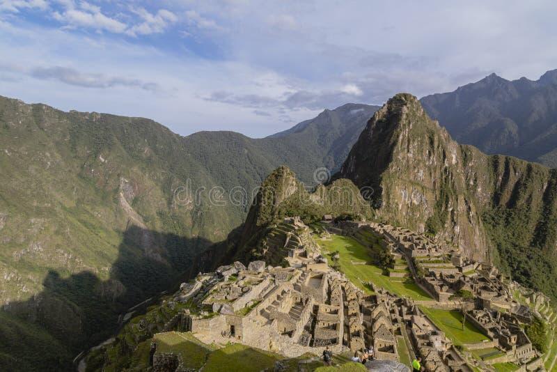 Machu Picchu in Peru - lost city of Inca. Indigenous, cusco, cloud, forest, architecture, scenic, culture, america, landmark, scenery, civilization, mystery royalty free stock images