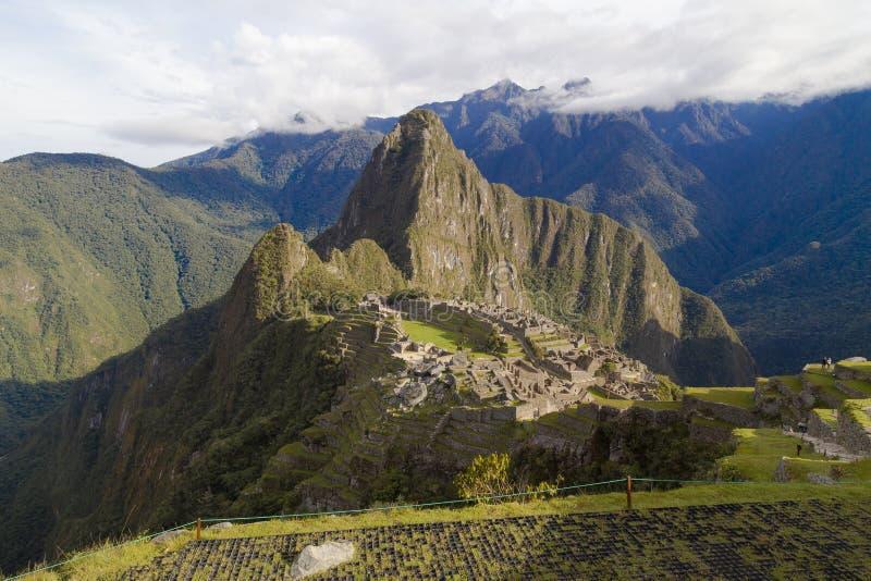 Machu Picchu in Peru - lost city of Inca. Indigenous, cusco, cloud, forest, architecture, scenic, culture, america, landmark, scenery, civilization, mystery royalty free stock image