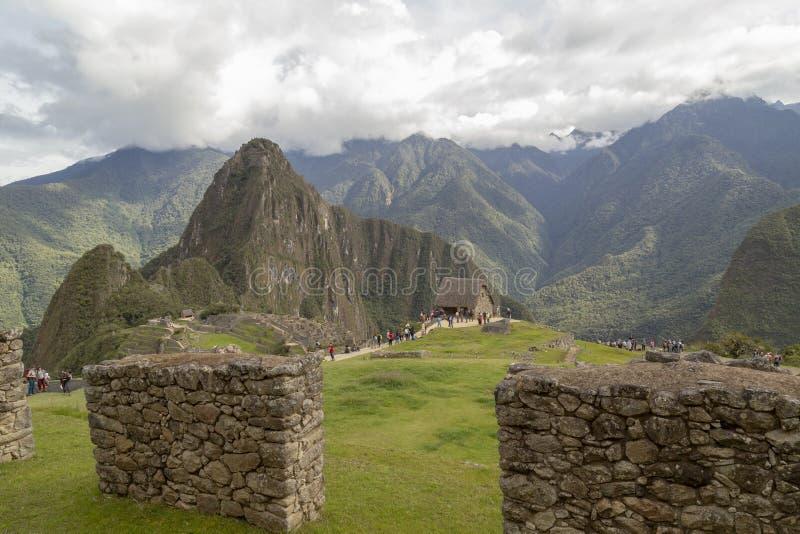 Machu Picchu in Peru - lost city of Inca. Indigenous, cusco, cloud, forest, architecture, scenic, culture, america, landmark, scenery, civilization, mystery royalty free stock photo