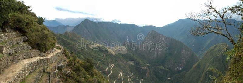 Machu Picchu, Peru Panorama lizenzfreie stockbilder