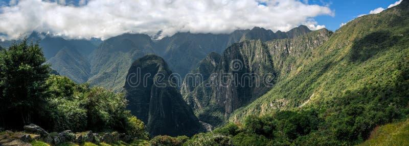 Machu Picchu Peru - Panorama op een berg royalty-vrije stock foto's