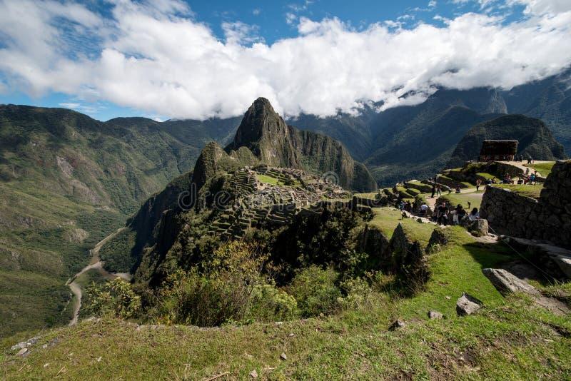 Machu Picchu Peru, panoramatic sikt royaltyfri fotografi