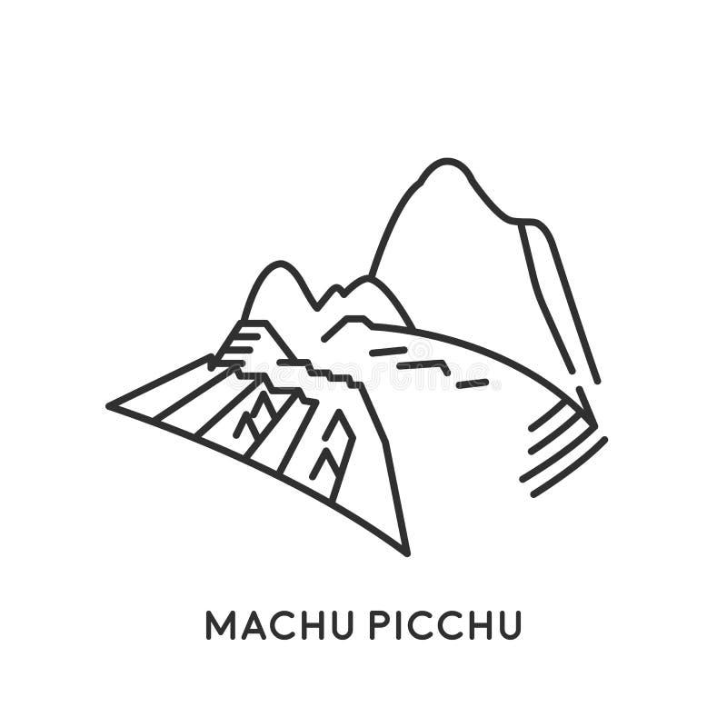 Machu Picchu, Peru vector illustratie