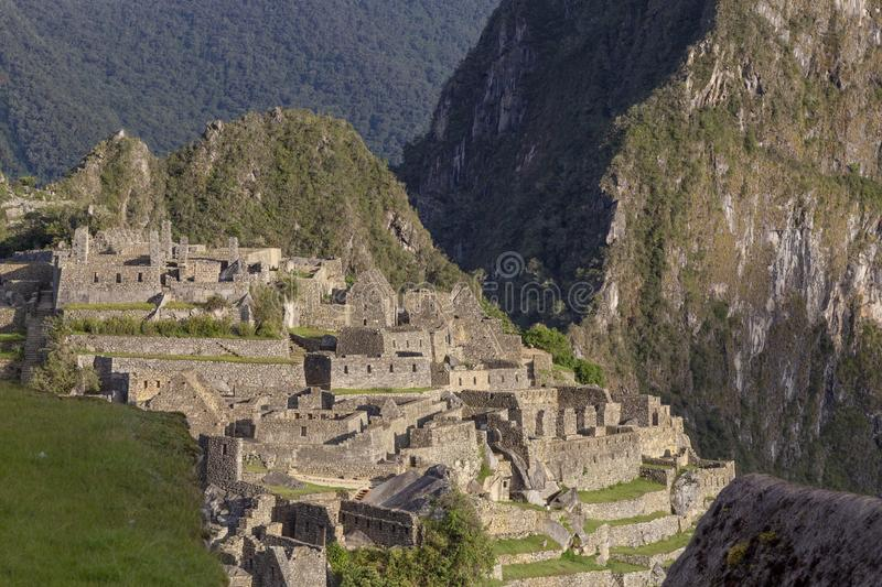 Machu Picchu, Peru - Ruins of Inca Empire city and Huaynapicchu Mountain, Sacred Valley. Indigenous, cusco, cloud, forest, architecture, scenic, culture stock photos