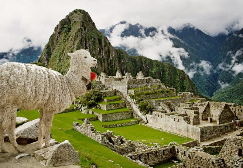 Machu Picchu in Peru. UNESCO World Heritage Site stock photography