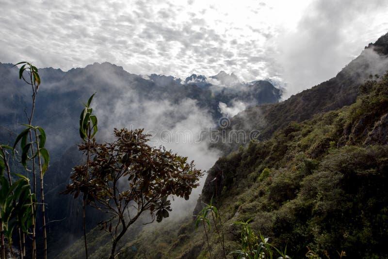 Machu Picchu Peru, väg upp av berget royaltyfria bilder