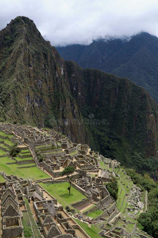 Machu Picchu Peru View stockbilder
