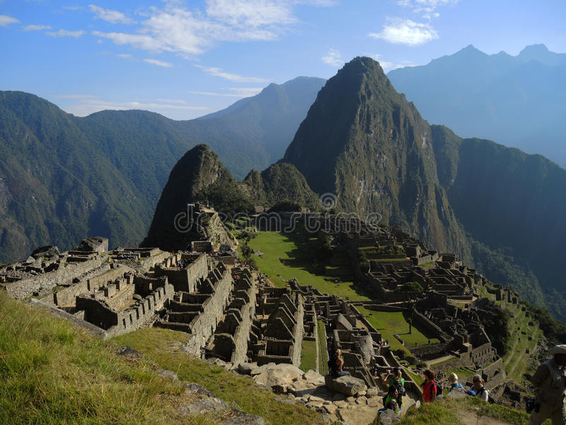 Machu Picchu, Peru. View of the ancient Inca city in the Andes, on July 13, 2015 in Machu Picchu, Peru. One of the New Seven Wonders of the World and UNESCO royalty free stock photography