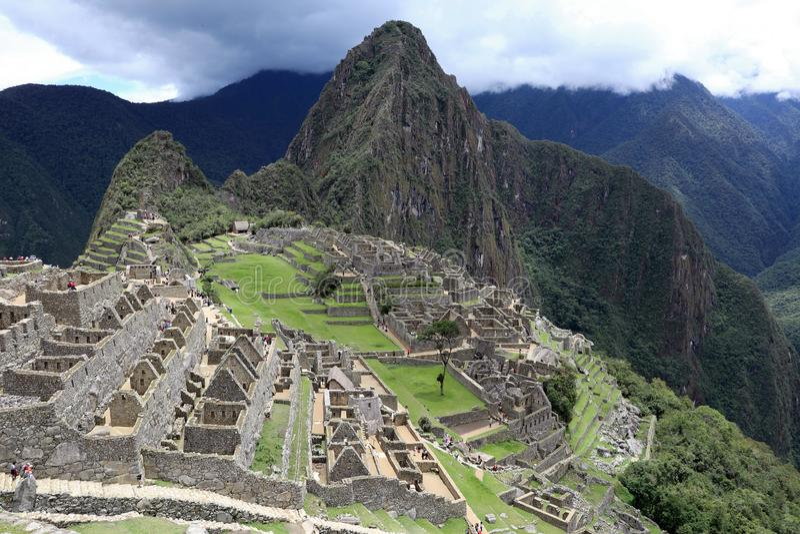 Machu Picchu Peru View stock photo