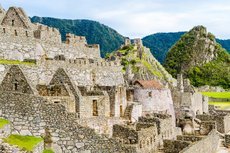 Machu Picchu, ruínas dos Incas em Andes em Cuzco, Peru foto de stock