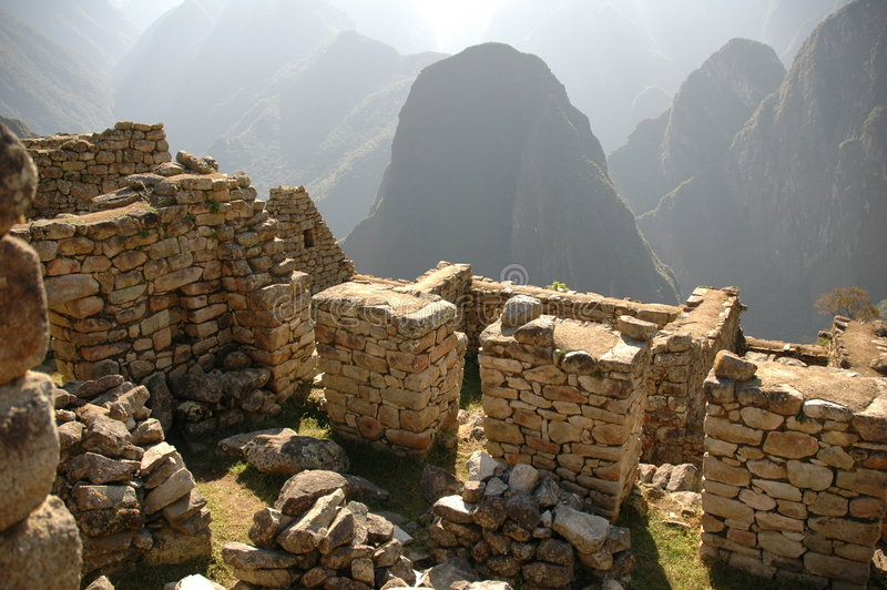 machu picchu ruin obrazy royalty free