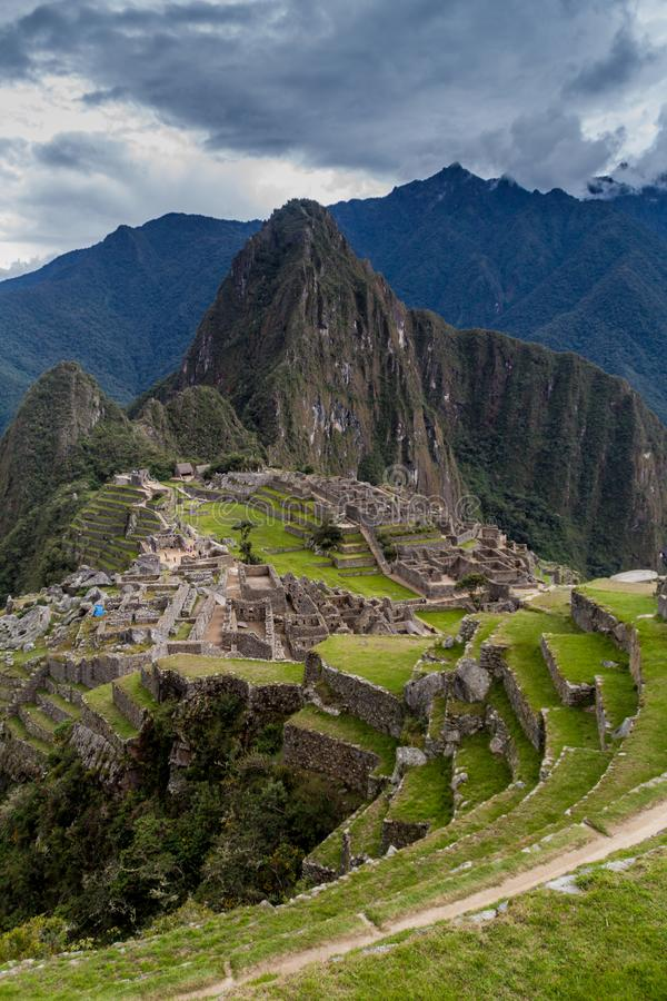 Machu Picchu Ruinen stockfotografie