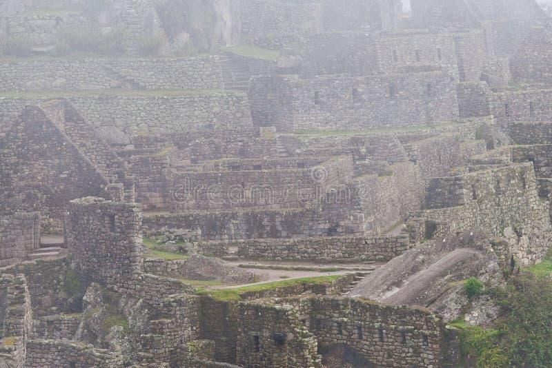 Machu Picchu Ruins in Morning Mist
