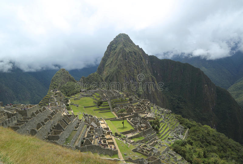 Machu Picchu ruins in Peru. UNESCO World Heritage Site from 1983 stock image