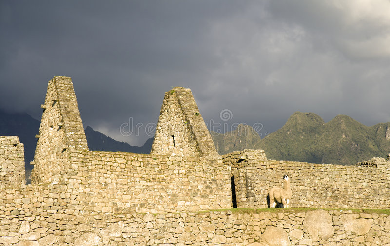 Download Machu Picchu Storm stock photo. Image of dark, ancient - 1644120