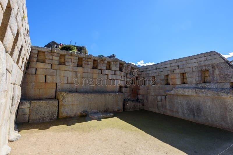 Machu Picchu - templo principal imagens de stock