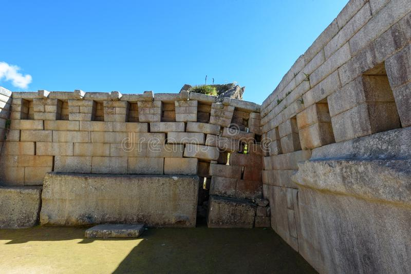 Machu Picchu - templo principal foto de stock