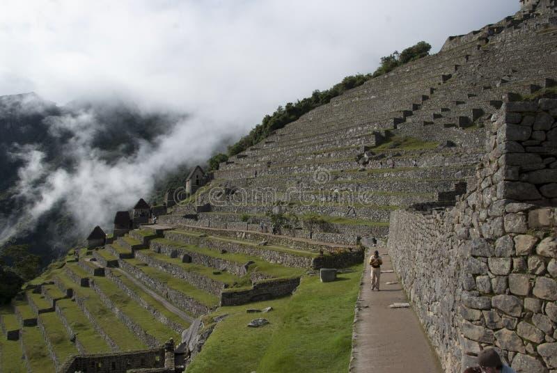 Machu Picchu, un santuario histórico peruano en 1981 y un patrimonio mundial de la UNESCO localiza en 1983 imagen de archivo libre de regalías