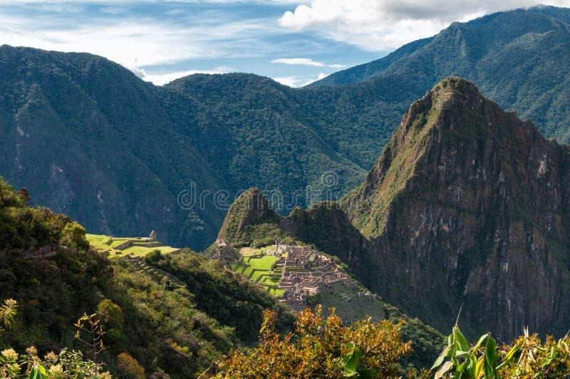Machu Picchu une vue finie photo libre de droits