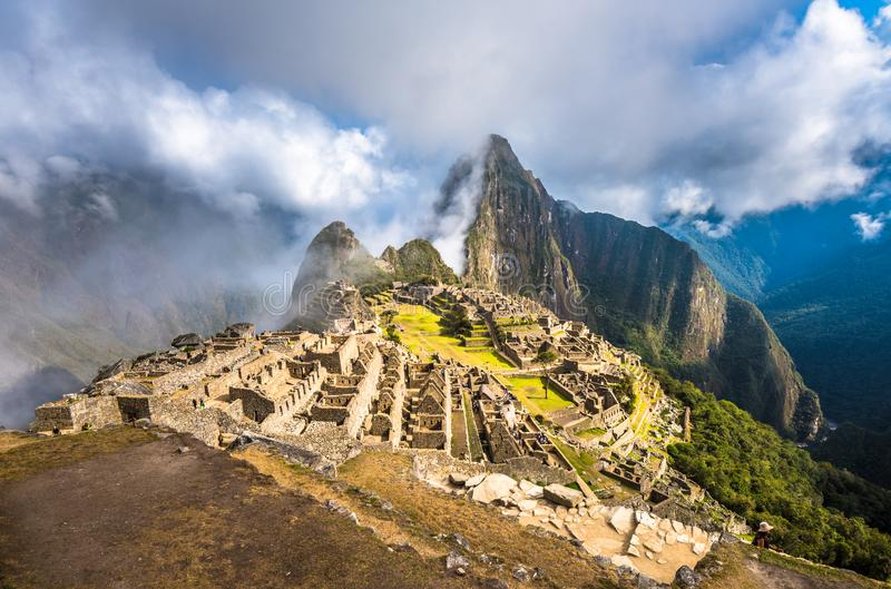 Machu Picchu, UNESCO World Heritage Site. One of the New Seven W royalty free stock image