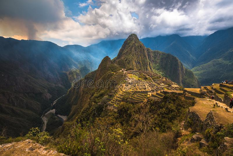 Machu Picchu, UNESCO World Heritage Site. One of the New Seven W royalty free stock photo
