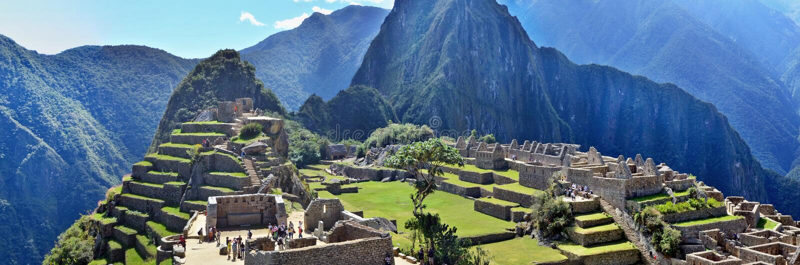 Machu Picchu - ville sacrée d'un empire d'Inca image stock
