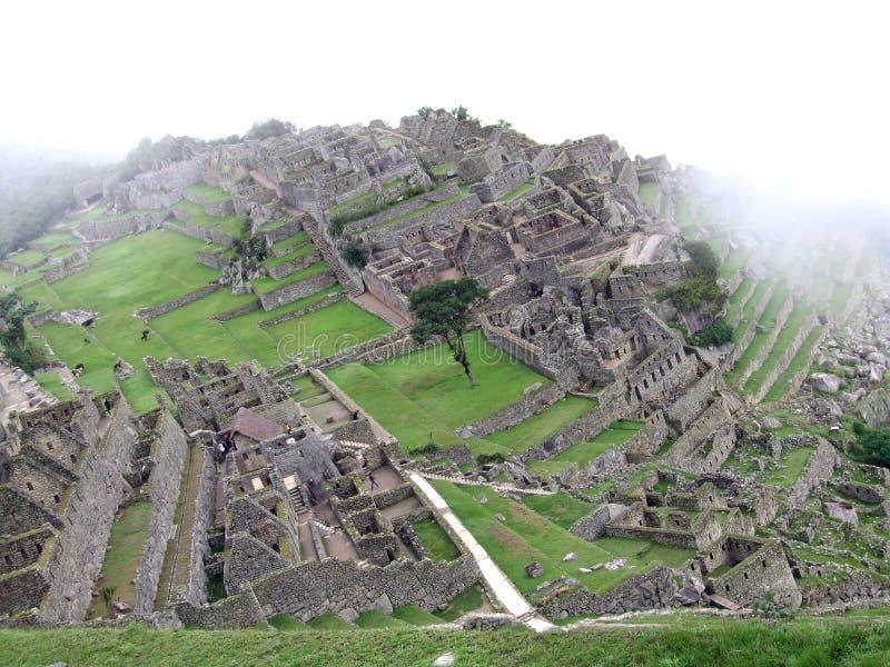 Machu Picchu von oben lizenzfreies stockbild