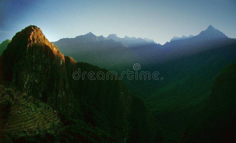 Machu Pichu - Peru (Umlagerungen) lizenzfreies stockfoto