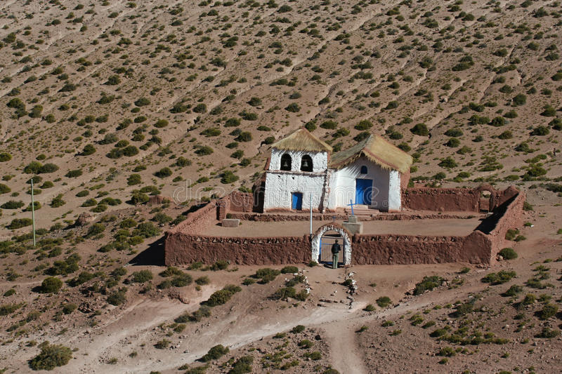 Machuca的Altiplano教会 库存图片