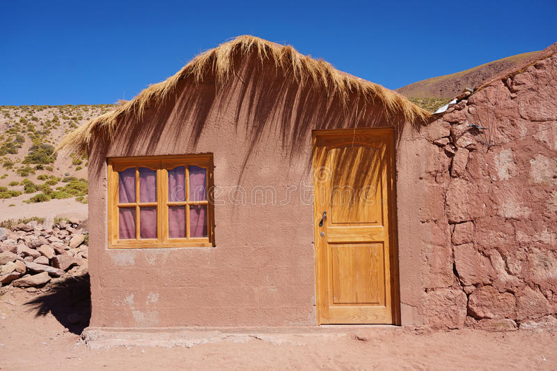 Machuca in the Atacama Desert, Chile. Mud-brick house in the village of Machuca, Atacama Desert, Chile stock image