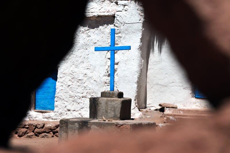 Machuca dans le désert d'Atacama, Chili photographie stock