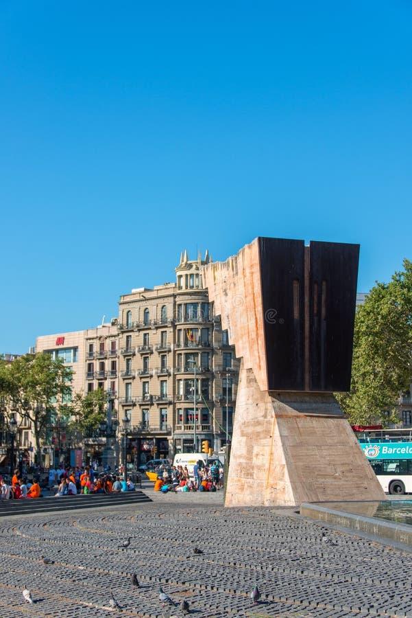 Macia zabytek w placu Cataluna fotografia stock