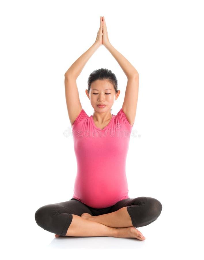Macierzyńska joga medytacja zdjęcia royalty free
