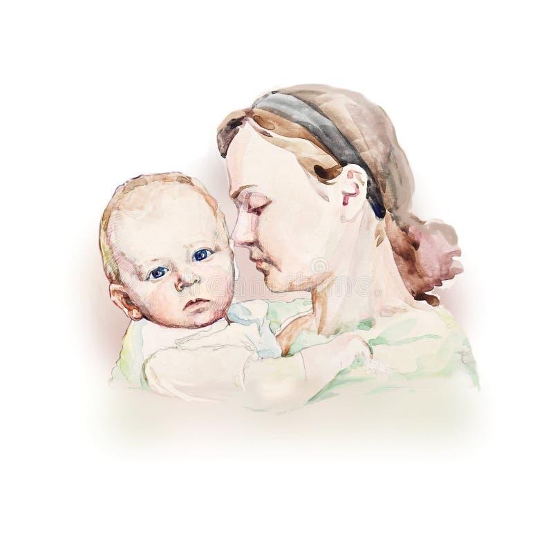 macierzyści potomstwa ilustracja wektor